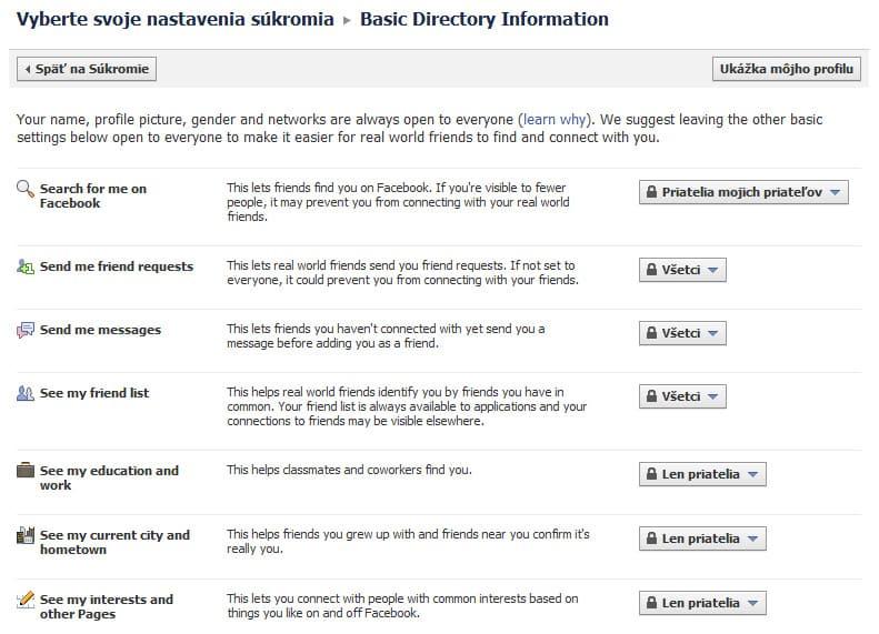 Facebook - základné informácie