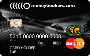 Moneybookers MasterCard kreditná karta