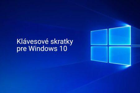 Windows 10 - klávesové skratky