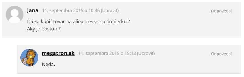 Príklad avataru v komentári